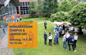 Die NORDAKADEMIE lädt zum Campus & Career Day 2020 - Meet the Profs. Meet the students. Meet the companies.